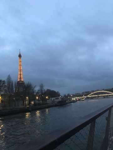 Eiffel Tower by River